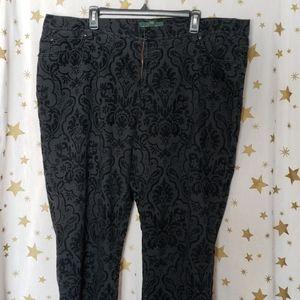Ralph Lauren LRL Black Patterned Jean's